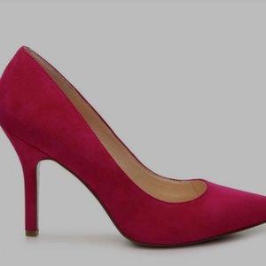 NINE WEST Faux-Suede Shimmer Heels size 7